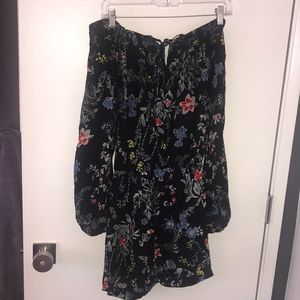Other - Black floral romper